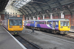 142093-142023-DT-11032019-1 (RailwayScene) Tags: class142 142023 142093 pacer leyland railbus arriva northern darlington