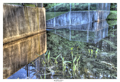 Mind Bending Reflection (Pearce Levrais Photography) Tags: water river lake pond reflection bend bending landscape dam fence wall sony a7r3 outside outdoor plant tree nature