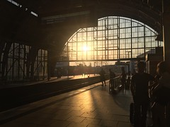 Going Home (Renate R) Tags: berlin sky sunset alexanderplatz