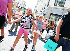 Madrid (kirstiecat) Tags: madrid spain espana kids children street canon light colors pink