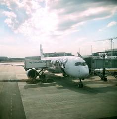 Finnair Aeroplane at Helsinki Airport (Matthew Huntbach) Tags: finnair aeroplane airport helsinki