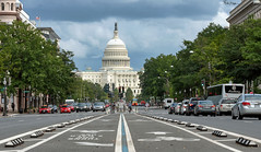 The Middle of the Road is trying to find me I'm standing in the middle of life with my plans behind me ~ The Pretenders (Karnevil) Tags: usa washingtondc dc districtofcolumbia unitedstatescapitol capitolbuilding firststse nationalmall dome unitedstatescongress houseofcards pennsylvaniaavenue middleoftheroad thepretenders traffic cars cyclists people zoom 70200mm outdoors sony a7rii a7 rii petekreps