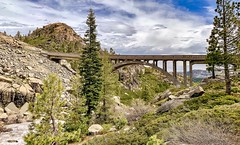 Donner Summit Bridge at Donner Pass on Old Highway 40 in California. (lhboudreau) Tags: