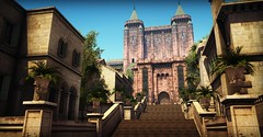 [Fire and Blood] King's stairs (Austrian Eagle) Tags: game thrones second life buildings castle medieval palace gardens roleplay rp