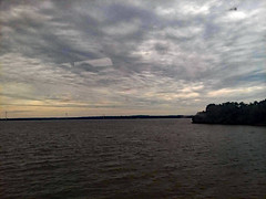 Over The River. (dccradio) Tags: quantico va virginia princewilliamcounty quanticocreek potomacriver river water bodyofwater nature natural outdoor outdoors outside sky cloudy scenic overcsat clouds sunset waves ripples tree trees samsung galaxy smj727v j7v cellphone cellphonepicture summer weekend saturday saturdayevening evening goodevening june beauty pretty beautiful