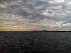 Clouds Above The Water. (dccradio) Tags: quantico va virginia princewilliamcounty quanticocreek potomacriver river water bodyofwater nature natural outdoor outdoors outside sky cloudy scenic overcsat clouds sunset waves ripples tree trees samsung galaxy smj727v j7v cellphone cellphonepicture summer weekend saturday saturdayevening evening goodevening june beauty pretty beautiful
