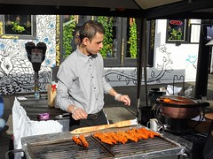 The Surgeon (knightbefore_99) Tags: commercialdrive car free day eastvan vancouver 2019 sunny thedrive italian italy surgeon plastic gloves kinky kebab indian food hair