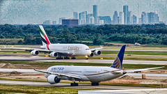 IAH with Downtown 2019-06-10 (GFB Aviation Photography) Tags: iah kiah downtown united emirates a380 787