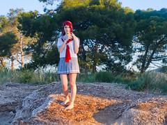 Shooting Love Live- Tsu - Les Salins -2019-05-31- P1677665v1 (styeb) Tags: shoot shooting lovelive lessalins 2019 mai 31 hyeres cosplay rikosakurauchi sea mer méditerrannée xml retouche modeltsu