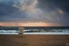 Shelter from the Storm (waves_and_wonders) Tags: art background bay beach beautiful beauty blue california clouds coast coastal coastalcolors cover crashingwaves dramaticsky fineart goldenhour heavenly landscape lifeguardtower light lowclouds marine monterey montereybay moodysky nature nautical ocean oceanic omnious outdoor pacific painterly photography sand sandcity scenic sea seascape shore sky soft stormy tidal tide unitedstates water waves