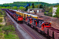 Roll-By (BravoDelta1999) Tags: cn railway duluthmissabeandironrange dmir railroad ironrangesubdivision biwabik minnesota ge c408 2020 2017 2001 2011 taconite ore train