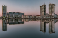 Treptowers (karstenlützen) Tags: germany berlin berlintreptow treptowers riverside waterfront mirrored