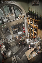 Beautifully Designed Small Bar in Vienna (Michiyo Photo) Tags: cafe shop bar wine rest relax small tiny design vienna chill city town architecture 2019 winter travel sightseeing enjoy night light indoor arch display special unique different austria european europe