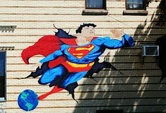 The Turning Page Comics - Milwaukee (Cragin Spring) Tags: milwaukee milwaukeewi milwaukeewisconsin wisconsin wi city urban unitedstates usa unitedstatesofamerica mural theturningpage comics art artwork wall superman comicbookstore