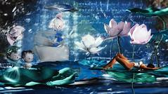 Do you think she's real? (Alexa Maravilla/Spunknbrains) Tags: driftwood moonvalley secondlife sl decor decoration photography 3dmesh whimsical blue fantasy blog blogger