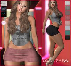 """Puffin"" Distressed Micro Mini Skirt - Updated Include Maitreya+Belleza+Slink+eBody Curvy+TMP+Altamura (KoyukiKytori) Tags: puffin secondlife slmarket secondlifemarketplace secondlifefashion avatar avatarfashion secondlifepicture slpicture koyuki mesh microminiskirt 3dgame セカンドライフ"