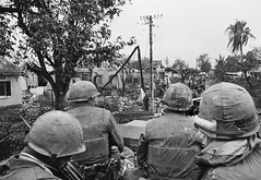 HUẾ 1968 -  U.S. Army Patrol During Offensive on Hue (manhhai) Tags: adults americanarmedforces americans asia asianhistoricalevent battle few historicevent hue landbattle males marine men midadult midadultman military militarypersonnel northamericanhistoricalevent northamericans northcentralcoastregion patrolling people rubble southvietnam southeastasia thuathienhueprovince unitedstateshistoricalevent unitedstatesmarinecorps unitedstatesofamerica urbanbattle vietnam vietnamwar19591975 vietnamesehistoricalevent war waste