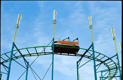 (Duke of Gnarlington) Tags: san mateo county fair roller coaster summer ektar 100 canon a1 50mm 12