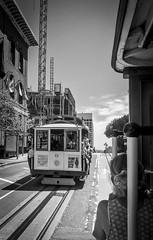 Passing by (Janne Räkköläinen) Tags: city cityviews streets cablecar sanfrancisco us usa bnw blackwhite blackandwhite urban amateur amateurphotography passing passingby iphone iphonephoto iphone7 iphonephotography