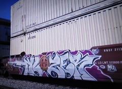 klozer (timetomakethepasta) Tags: klozer cbs freight train graffiti art bnsf intermodal lmk