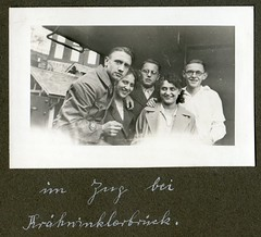 . (Kaïopai°) Tags: old vintage alt bahnhof reichsbahn eisenbahn railway zug wagon brille smile lächeln krähwinklerbrücke remscheid wuppertalsperre