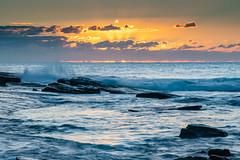 Rocky Inlet Sunrise Seascape - The Skillion (Merrillie) Tags: daybreak sunrise nature dawn terrigal sky morning newsouthwales rocks earlymorning nsw skillion sea ocean rocky landscape centralcoast coastal waterscape outdoors seascape australia coast water waves