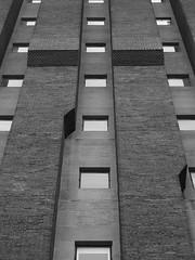 Vertical Brick (Nick Condon) Tags: abstract architecture blackandwhite brick hydepark olympus45mm olympusem10 window