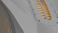 A17779 / calatrava's oculus / sans cyan / sans blue (janeland) Tags: newyorkcity newyork 10007 lowermanhattan financialdistrict oculus wtctransportationhub architecture lateintheday selectivedesaturation abstract architecturaldetail may 2018 santiagocalatrava architect