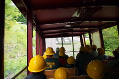 Steep Rail (BunnyHugger) Tags: hancock michigan mine quincymine tour tram