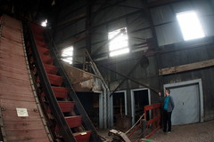 Joseph and the Escalator (BunnyHugger) Tags: hancock michigan mine quincymine shafthouse