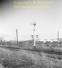 243 Antrim GN branch in foreground Easter 1963 (Mike Shannon)  243 (Ernies Railway Archive) Tags: antrimstation nir gnri