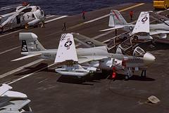 EA-6B Prowler 158809 of VAQ-137 AE-702 (JimLeslie33) Tags: ea6 ea6b prowler grumman vaq vaq137 rooks 158809 nas whidbey island uss america cvw6 ae cv66 ae702 usn navy naval aviation ecm esm jamming