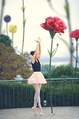 Love is the flower you've got to let grow. -John Lennon (Yuri Figuenick) Tags: flower grow long nature woman portrait girl fashion life canon eos 5d mark3 ballerina art pink toes ballet model