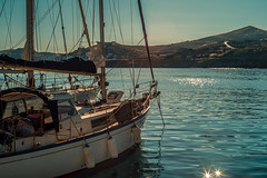 Evening light.... (Dafydd Penguin) Tags: evening light water yacht yachting sailboat sail boat sailing sea quay quayside town harbour harbor port dock island kea cyclades greece europe leica m10 50mm summicron f2