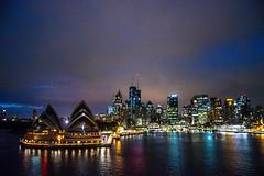 Passing The Opera House (Tony Shertila) Tags: nikon5300 australasia australia city cruise deck night ociania outdoor ship sydney tourist worldcruise 201902240703060 newsouthwales