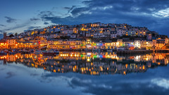 Brixham Blues (Rich Walker Photography) Tags: brixham devon landscape landscapes landscapephotography canon england efs1585mmisusm eos eos80d greatbritain uk bluehour water harbour reflection reflections night longexposure longexposures longexposurephotography