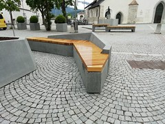 San Lorenzo, Southtyrol - Italy (euroform.winkler) Tags: bench wood concrete fsc design architecture italy madeinitaly bigplanter parkbench citycentre