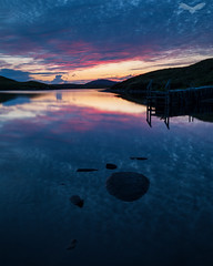 Dying light (Andy Davis Photography) Tags: northuist tuathuibhist reflections rocks hills loch lake clouds sunset jetty canon