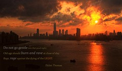 Whatever it takes (FotoBean00) Tags: hongkong sunset harbour metropolitan dusk silhouette cloud sky sun 香港 維多利亞港 hope fight noextradition hongkonger 香港人