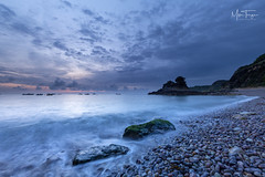 Before the sun. (miketonge) Tags: jersey channelislands bouleybay rocks sea water sunrise dawn d850 1424 nisi nisifilters shore boats island waves