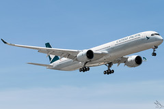 Cathay Pacific - Airbus A350-1041 / B-LXJ @ Manila (Miguel Cenon) Tags: cx cxa350 cathaypacific cathay cathaypacifica350 cathaya350 rpll airbus airbusa350 a350 airplane airplanespotting apegroup appgroup airport ppsg planespotting philippines manila nikon naia d3300 rollsroyce rrtrent xwb trentxwb sky fly flying wings twinengine widebody widebodyjet plane clouds window wing twin airbusa35k airbusa3501000 a35k a3501000 blxj