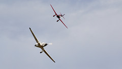 Mew Gull Formation (Bernie Condon) Tags: percival mewgull racing plane aircraft vintage preserved percivalaircraftcompany gaexf 1930s uk british shuttleworth collection oldwarden airfield airshow display aviation flying festivalofflight june2019