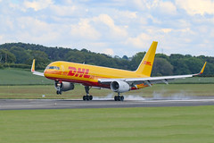 DHL B757 - Crew Training (Dougie Edmond) Tags: prestwick scotland unitedkingdom plane aircraft cargo egpk pik
