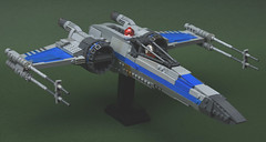 T-70 X-wing v2 (atlas_er) Tags: new blue last t star starwars fighter ship force lego space wing 7 8 battle x jedi xwing spaceship wars viii 70 poe episode vii trilogy squadron sequel moc t70 starfighter awakens dameron dqar