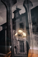 Reflections (Roberto Spagnoli) Tags: reflections riflessi hat photo photoexhibition color fotografiadistrada streetphotography woman evanescence