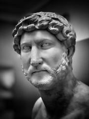 Hadrian just had a thought … (marc.barrot) Tags: hadrien publiusaeliushadrianus uk london monochrome statue roman bloomsbury britishmuseum hadrian antiquity ancientrome wc1b greatrusselstreet caesarpubliusaeliustraianushadrianusaugustus shotoniphone portrait sculpture spqr