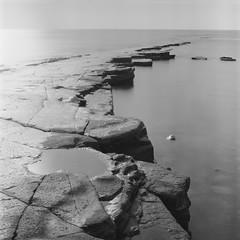 Kimmeridge Bay (Attila Pasek (Albums!)) Tags: rock bronicasqa mediumformat 6x6 120film longexposuretime film sea analogue kimmeridgebay delta camera blackandwhite seascape bw ilford coast 400