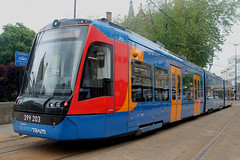Stagecoach Supertram: 203 Class 399: 399203 Cathedral (emdjt42) Tags: vossloh tram sheffield stagecoachsupertram 399203