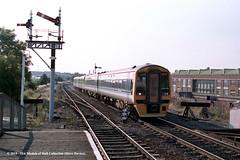 c.1992 - Cosford, Shropshire. (53A Models) Tags: britishrail class158 expresssprinter 158775 class 150 sprinter dmu diesel passenger train railway locomotive railroad cosford shropshire