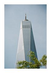 FILM - One World Trade Center (fishyfish_arcade) Tags: 35mm analogphotography canonsureshotz135 filmphotography filmisnotdead istillshootfilm kodak newyork portra400 analogcamera compact film oneworldtradecenter skyscraper